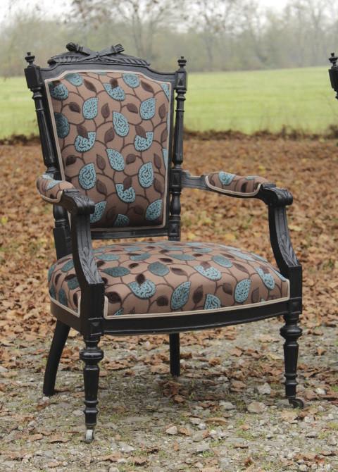 fauteuil cabriolet de style louis xvi epoque napolon iii - Fauteuil Napoleon 3