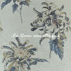 Papier peint Zoffany - Evelyne - réf: 312735 Tigers Eye/Bluestone
