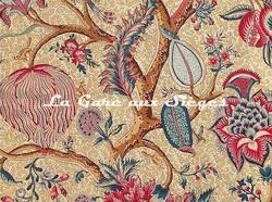 Tissu Braquenié - Le Grand Corail - réf: B080A.003 Corail/Jaune