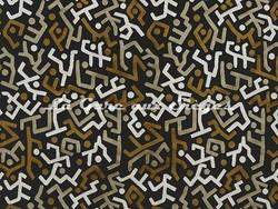 Tissu Pierre Frey - Velours Majestic - réf: F3110-001 Noir & Or - Voir en grand