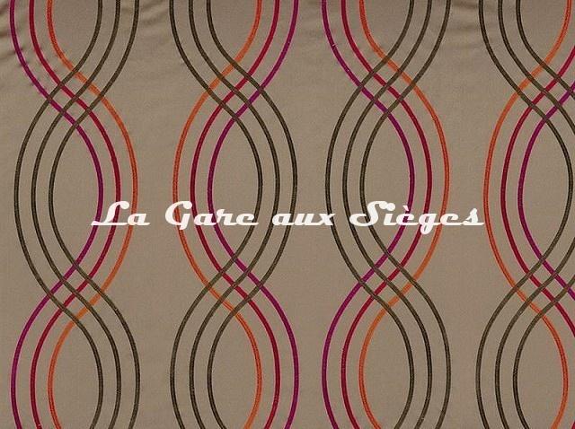 Tissu Casamance - Santara - réf: 3591.0327 Rouge - Voir en grand