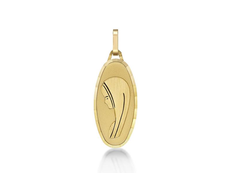 Médaille Ste Vierge fantaisie 21 mm Or jaune 18k 1.35 grs 204 ¤ - Voir en grand