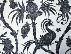 Tissu Luciano Marcato - Persia - réf: LM29807-720 Ivoire ( Blanc/Noir ) - Voir en grand
