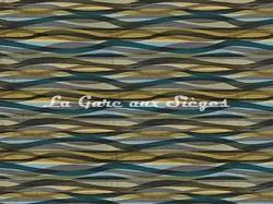 Tissu Casamance - Frénésie - réf: 3792.0337 Bleu topaze - Voir en grand