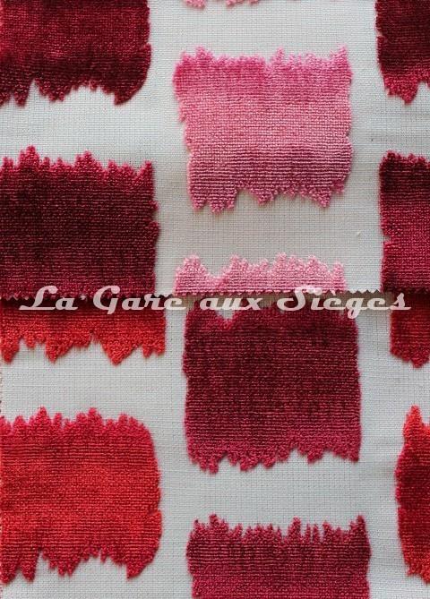 Tissu Jéro - Aquarelle - réf: 9631 - Coloris: 03 Rose & 05 Rouge - Voir en grand