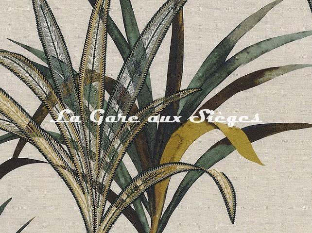 Tissu Casamance - Création - réf: 4221.0477 Vert - Voir en grand