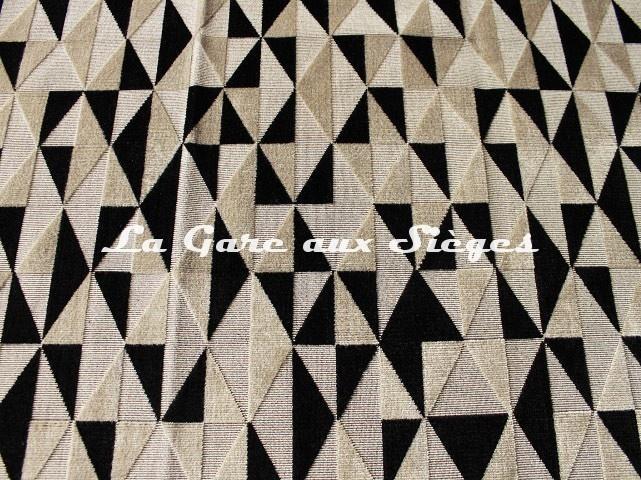 Tissu Fadini Borghi - Velours Arlina - réf: I6575.003 Truffe/Dune - Voir en grand