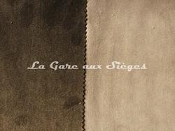 Tissu Casamance - Faveur - réf: 3823.0782 Carbone & 3823.0621 Mastic - Voir en grand