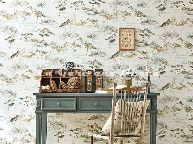 Papier peint Sanderson - Collection Estuary - Voir en grand