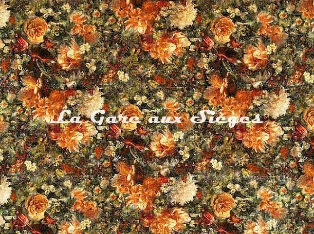 Tissu GP & J.Baker - Royal Garden Velvet - réf: BP10642.4 Amber/Jade - Voir en grand