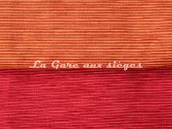 Tissu Luciano Marcato - Anima - réf: LM19524 - Coloris: 45 Arancione & 70 Rubino - Voir en grand