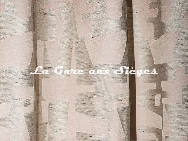 Tissu Dedar - Pazl - réf: T18004.003 Rose Thé ( détail ) - Voir en grand
