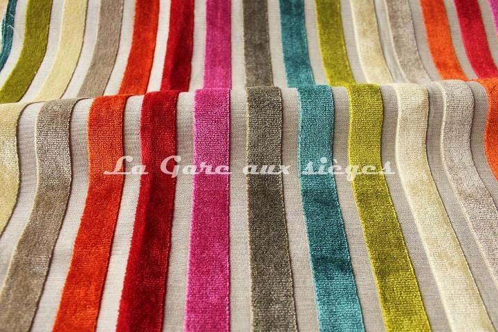 Tissu Deschemaker - Yucatan - réf: 103758 Multicolore - Voir en grand