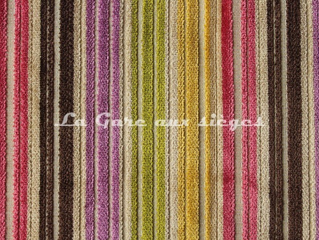 Tissu Deschemaker - Velours Recife - réf: 103687 - Multicolore - Voir en grand
