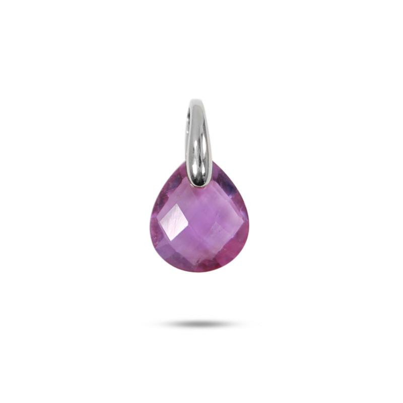 Pendentif Améthyste or Blanc 18 carats 0.30 grs 183 ¤ - Voir en grand