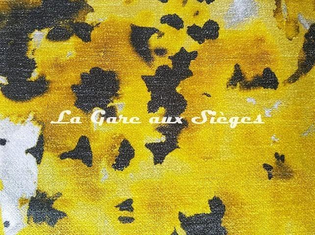 Tissu Rubelli - Monet - réf: 30162.001 Giallo/Napoli Grigio - Voir en grand