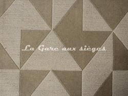 Tissu Deschemaker - Cubisme - réf: 103959 Mastic - Voir en grand