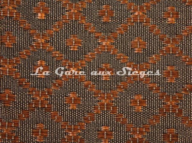 Tissu Le Crin - Nircel 204 - réf: C0204 - Coloris: 054 Noir/Châtaigne - Voir en grand