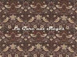 Tissu William Morris - Strawberry Thief - réf: 220315 Grape/Gold - Voir en grand