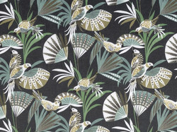 Tissu Camengo - Quetzal velvet - réf: 4208.0248 Vert - Voir en grand