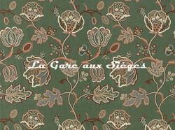 Tissu William Morris - Theodosia - réf: 236821 Bottle Green - Voir en grand