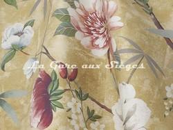 Tissu Lelièvre - Printemps de Chine - réf: 583.01 Or - Voir en grand