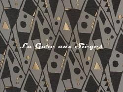 Tissu Pierre Frey - Harper - réf: F3116.001 Noir & Blanc - Voir en grand