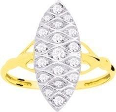 Bague marquise or jaune 18 carats 380 ¤ - Voir en grand