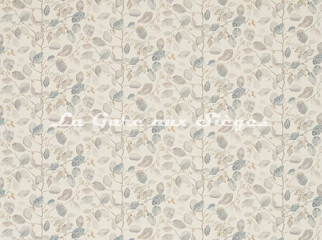 Tissu Sanderson - Woodland Berries - réf: 225531 Grey/Silver - Voir en grand