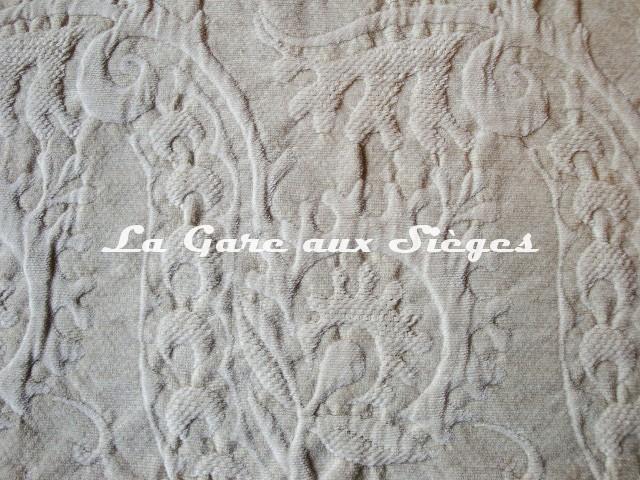 Tissu Dominique Kieffer - Damas - réf: 17116 - Coloris: 03 Lin - Voir en grand