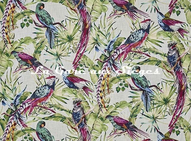 Tissu Pierre Frey - Vol d'oiseaux - réf: F3392.001 - Voir en grand
