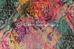 Tissu Deschemaker - Velours New Delhi - Coloris: 3099 Multicolore - Voir en grand