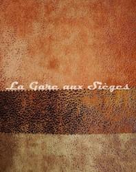 Tissu Casal - Cuir vieilli - Réf: 5080 - Coloris: 50 Noisette - 53 Chocolat - 30 Kaki - Voir en grand