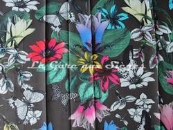 Tissu Osborne & Little - Tulipan - réf: F6743-02 - Coloris: Multi/Cacao - Voir en grand