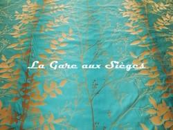Tissu Harlequin - Persephone - réf: 130254 Aqua/Mocha - Voir en grand