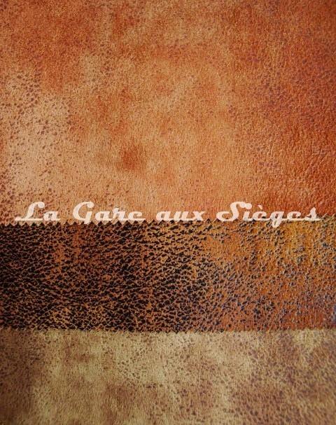 Tissu Casal - Cuir vieilli - Réf: 5080 - Coloris: 50 Noisette - 53 Chocolat - 30 Kaki (supprimé) - Voir en grand