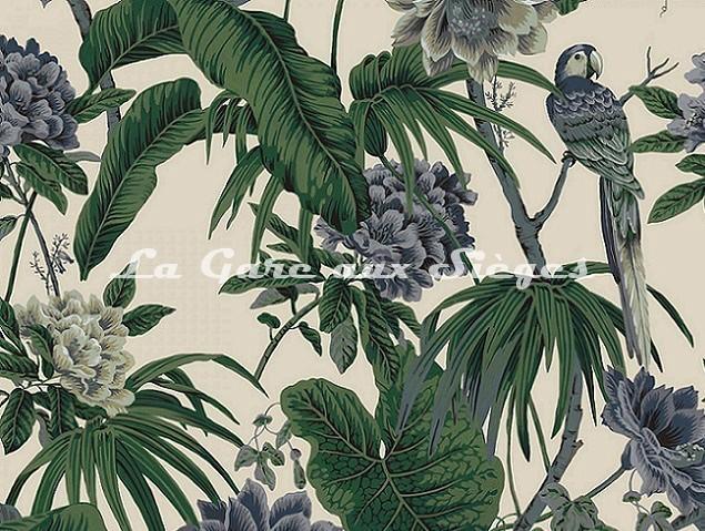 Tissu House of Hackney - Paradisia coton/lin - Off White - Voir en grand