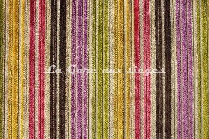 Tissu Deschemaker - Velours Recife - réf: 103687 - Coloris: Multicolore - Voir en grand