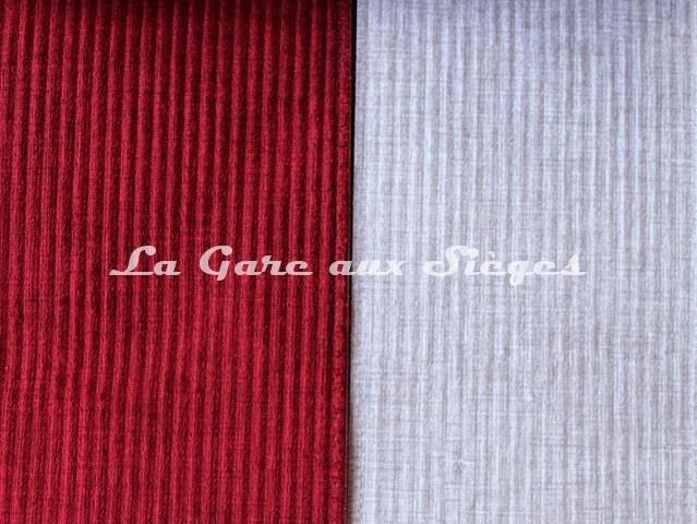 Tissu Casal - Toudoux - réf: 12151 - Coloris: 75 Groseille & 60 Perle - Voir en grand