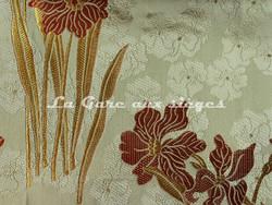 Tissu Verel de Belval - Narcisses - réf: 99102-106 Corail - Voir en grand