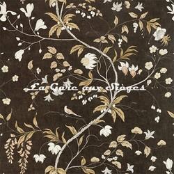 Papier peint Zoffany - Chambalon Trail - réf: 312850 Antique Gold/Vine Black
