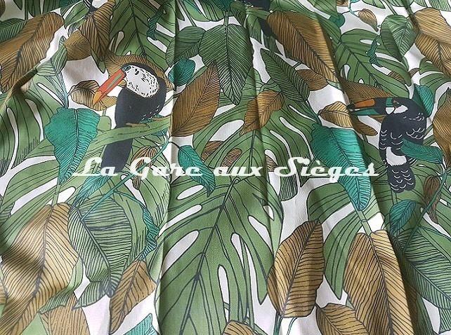 Tissu Casamance - Talamanca - réf: 4075.0117 Vert mouse - Voir en grand