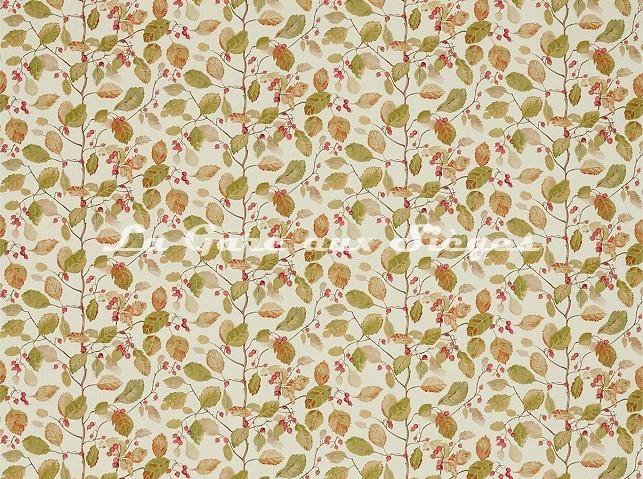 Tissu Sanderson - Woodland Berries - réf: 225530 Rosehip/Moss - Voir en grand
