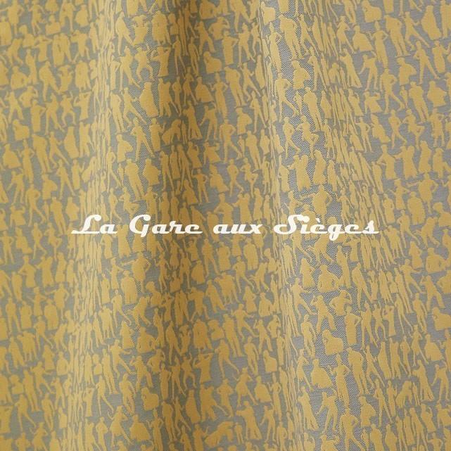 Tissu Jean Paul Gaultier - Silhouette - réf: 3492.02 Jaune - Voir en grand