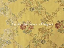 Tissu Chanée Ducrocq - Villandry - réf: 8524 Or ( détail ) - Voir en grand