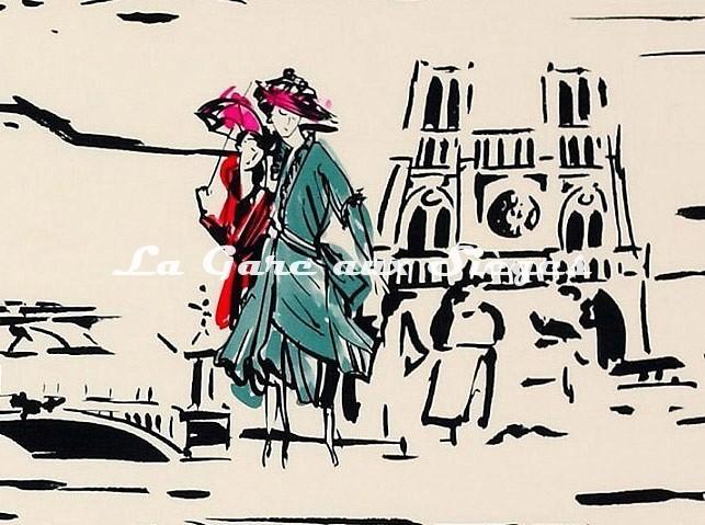 Tissu Manuel Canovas - La Parisienne ( détail 2 ) - Voir en grand
