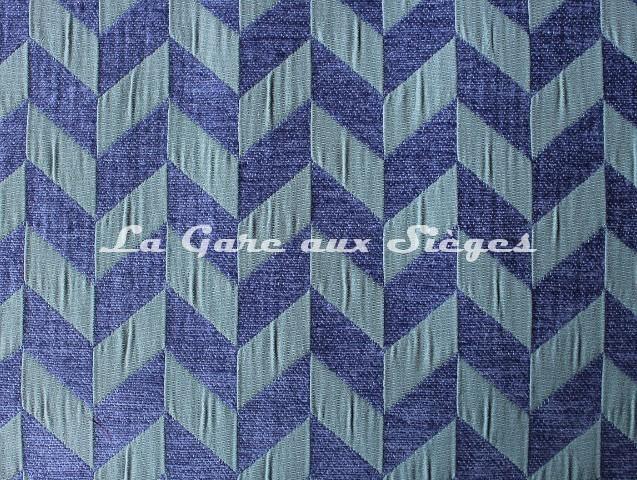 Tissu Casal - Trapéziste - réf: 16186 - Coloris: 1112 Bleuet Céladon - Voir en grand