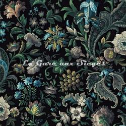 Tissu House of Hackney - Florika velvet - Coloris: Onyx - Voir en grand