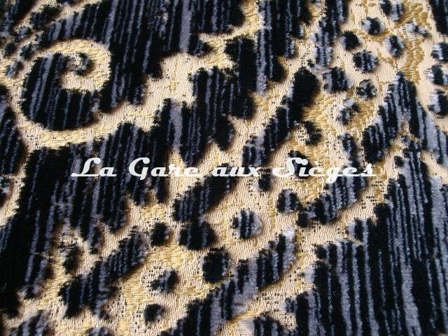 Tissu Fadini Borghi - Sforza - réf: I5004.005 Noir ( détail ) - Voir en grand