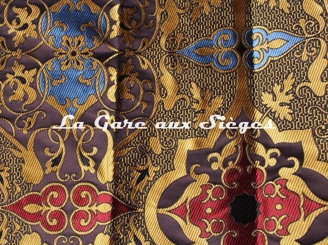 Tissu Tassinari & Châtel - Tolède - réf: 1693.01 Encre ( détail ) - Voir en grand